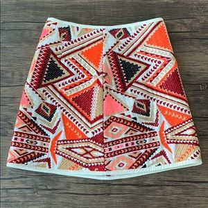 Topshop embroidered mini skirt